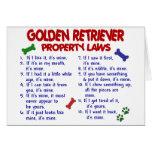 Leyes 2 de la propiedad del golden retriever felicitaciones