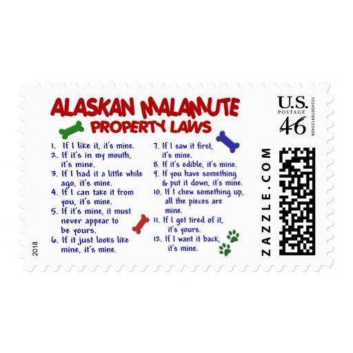 Leyes 2 de la propiedad del MALAMUTE DE ALASKA Sello