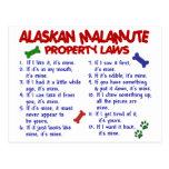 Leyes 2 de la propiedad del MALAMUTE DE ALASKA Postales