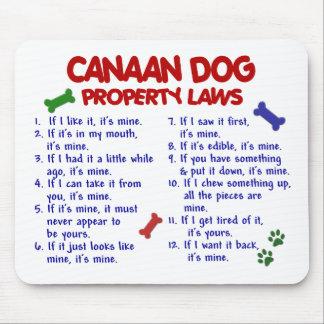 Leyes 2 de la propiedad del PERRO de CANAAN Mousepads