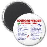 Leyes 2 de la propiedad del PINSCHER del DOBERMAN Iman Para Frigorífico