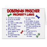 Leyes 2 de la propiedad del PINSCHER del DOBERMAN Tarjetón