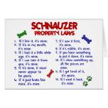 Leyes 2 de la propiedad del SCHNAUZER Tarjetón
