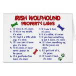 Leyes 2 de la propiedad del WOLFHOUND IRLANDÉS Felicitación