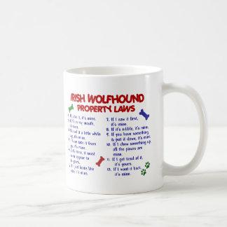 Leyes 2 de la propiedad del WOLFHOUND IRLANDÉS Tazas De Café
