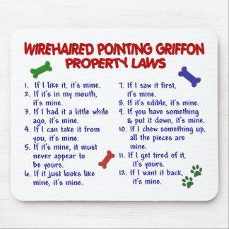Leyes 2 de la propiedad el SEÑALAR GRIFFON Alfombrillas De Raton