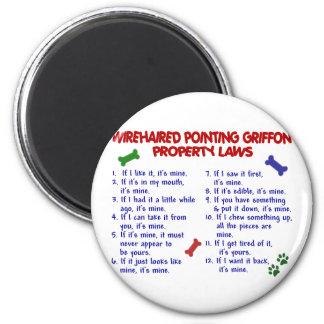 Leyes 2 de la propiedad el SEÑALAR GRIFFON WIREHAI Imán De Frigorífico