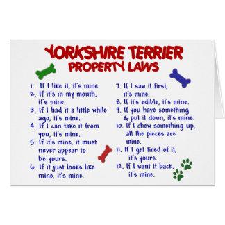 Leyes 2 Yorkie de la propiedad de YORKSHIRE TERRIE Felicitación