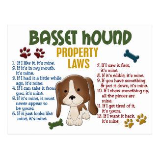 Leyes 4 de la propiedad de Basset Hound Postal