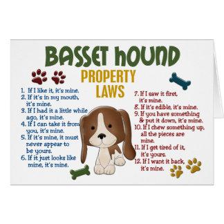Leyes 4 de la propiedad de Basset Hound Tarjeta De Felicitación