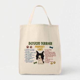 Leyes 4 de la propiedad de Boston Terrier Bolsas