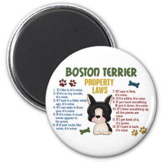 Leyes 4 de la propiedad de Boston Terrier Imán De Nevera