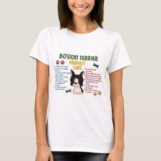 Leyes 4 de la propiedad de Boston Terrier Playera