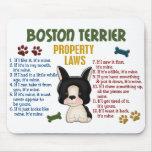 Leyes 4 de la propiedad de Boston Terrier Alfombrillas De Ratón
