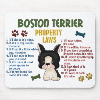 Leyes 4 de la propiedad de Boston Terrier Alfombrillas De Raton