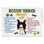 Leyes 4 de la propiedad de Boston Terrier Tarjeton