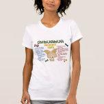 Leyes 4 de la propiedad de la chihuahua camiseta