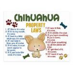 Leyes 4 de la propiedad de la chihuahua postal