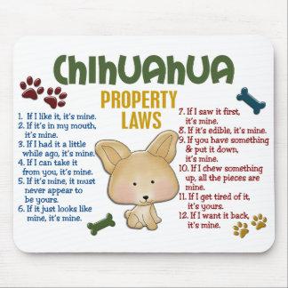 Leyes 4 de la propiedad de la chihuahua alfombrilla de ratones