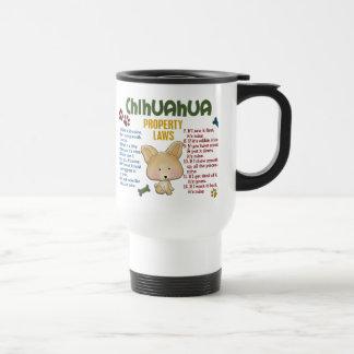 Leyes 4 de la propiedad de la chihuahua taza de café