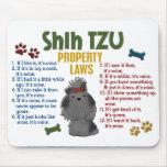 Leyes 4 de la propiedad de Shih Tzu Alfombrilla De Raton