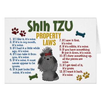 Leyes 4 de la propiedad de Shih Tzu Felicitaciones