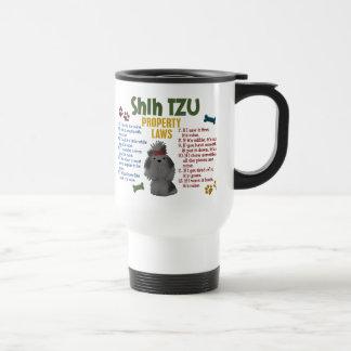 Leyes 4 de la propiedad de Shih Tzu Tazas