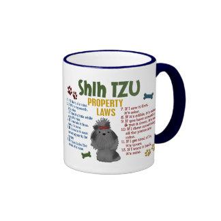 Leyes 4 de la propiedad de Shih Tzu Tazas De Café