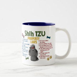 Leyes 4 de la propiedad de Shih Tzu Taza De Café De Dos Colores
