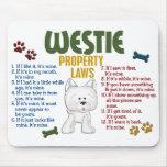 Leyes 4 de la propiedad de Westie Alfombrillas De Raton