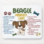 Leyes 4 de la propiedad del beagle tapete de ratón