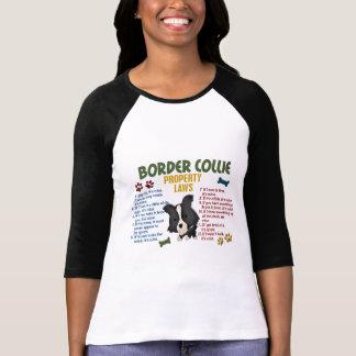 Leyes 4 de la propiedad del border collie camisetas