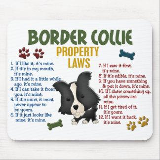 Leyes 4 de la propiedad del border collie alfombrilla de raton