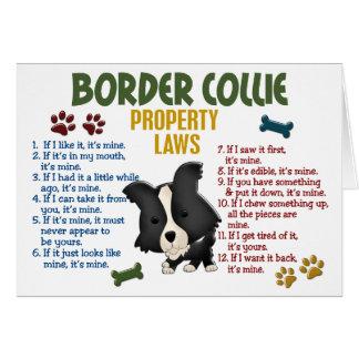 Leyes 4 de la propiedad del border collie tarjeta de felicitación