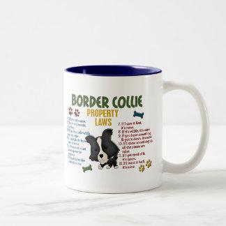 Leyes 4 de la propiedad del border collie tazas