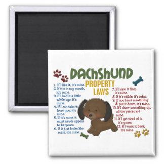 Leyes 4 de la propiedad del Dachshund Imán Para Frigorífico