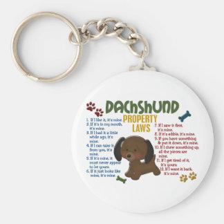 Leyes 4 de la propiedad del Dachshund Llaveros Personalizados