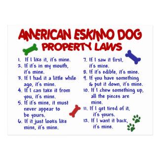 Leyes AMERICANAS 2 de la propiedad del PERRO Postales