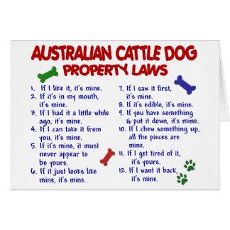 Leyes AUSTRALIANAS 2 de la propiedad del PERRO del Tarjeta De Felicitación