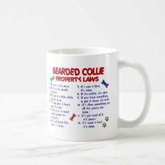 Leyes BARBUDAS 2 de la propiedad del COLLIE Taza