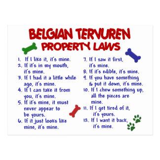 Leyes BELGAS 2 de la propiedad de TERVUREN Postales