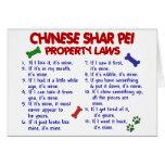Leyes CHINAS 2 de la propiedad de SHAR PEI Felicitacion