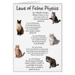 """""""Leyes de la física felina """" Felicitaciones"""