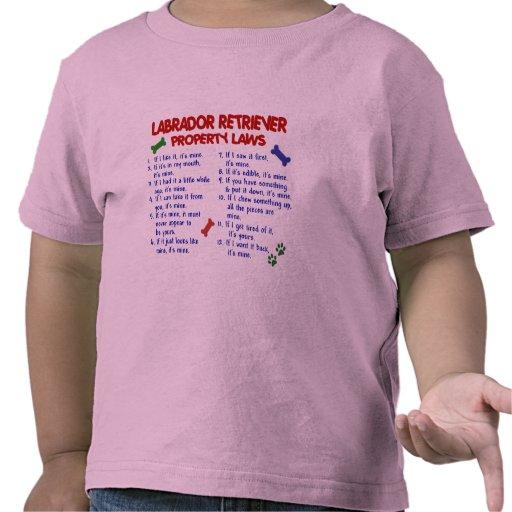 Leyes de la propiedad del LABRADOR RETRIEVER Camisetas