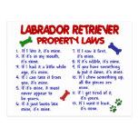 Leyes de la propiedad del LABRADOR RETRIEVER Tarjetas Postales