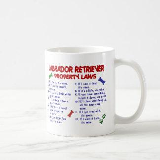 Leyes de la propiedad del LABRADOR RETRIEVER Tazas De Café