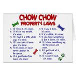 Leyes de la propiedad del PERRO CHINO de PERRO CHI Felicitación