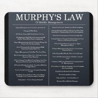 Leyes de Murphys de la gestión media Tapetes De Ratón