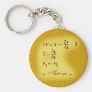 Leyes de Newton del movimiento Llavero Redondo Tipo Pin
