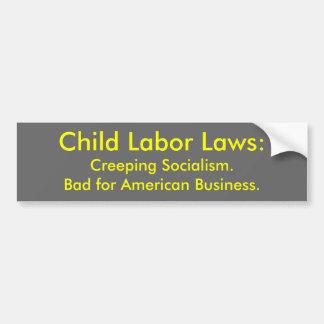 Leyes de trabajo infantil: Socialismo del arrastra Pegatina Para Auto
